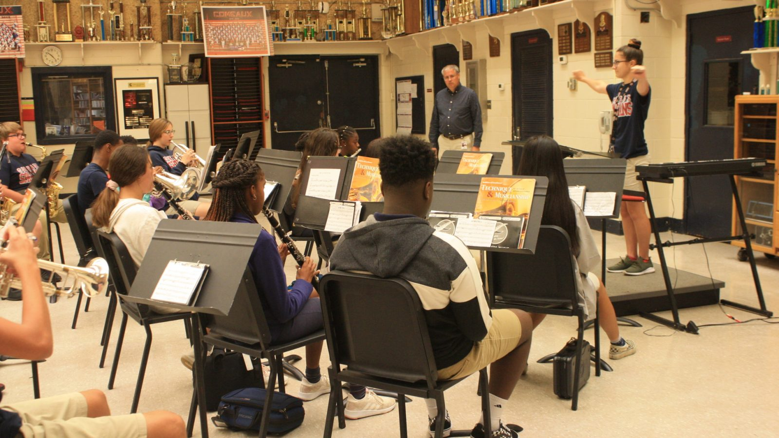 Students Practicing in the Bandroom