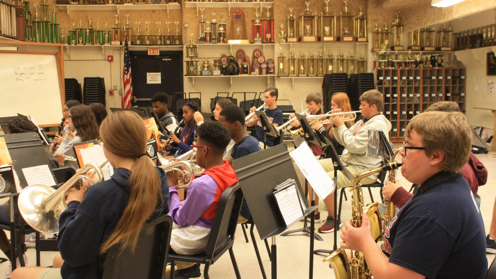 Band Students Practicing