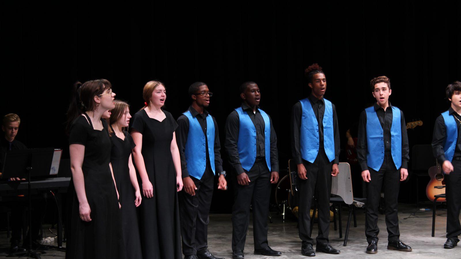 Chorus Students Performing at Preview Night