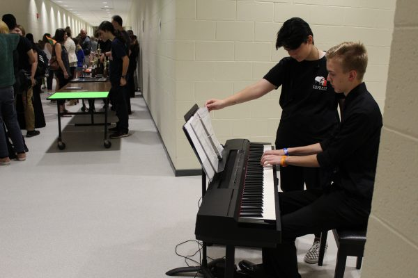 Piano Keyboard Performance at Preview Night