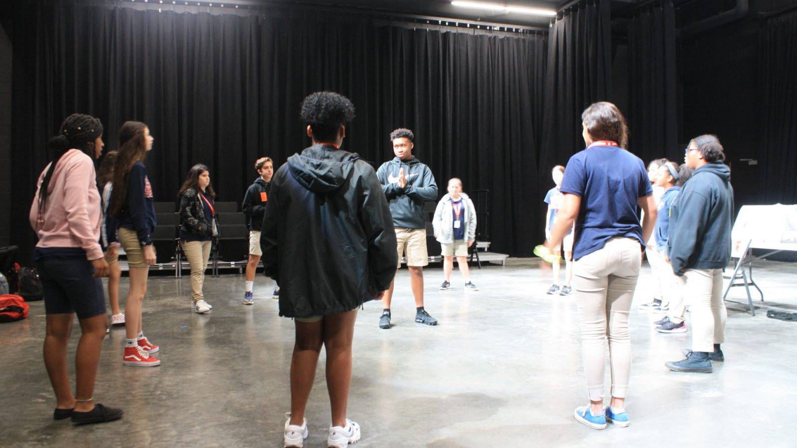 Drama Theater Students on Stage