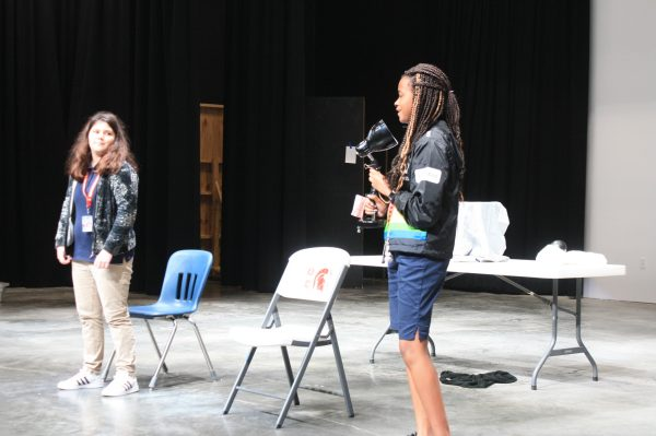 Theater Drama Students on Stage