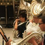 Band Students Playing Brass