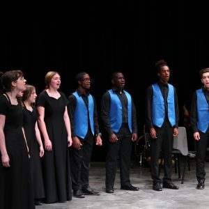 Chorus Students Performing at Preview Night
